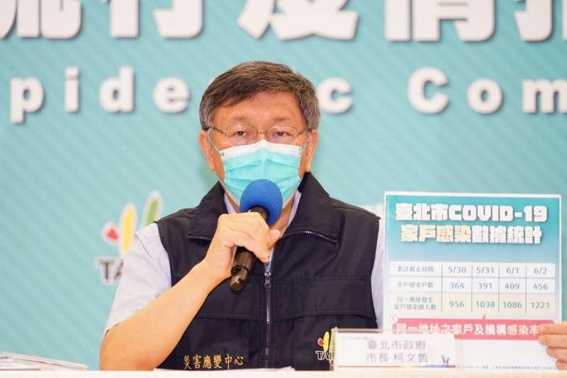 被問到日本援台疫苗誰的功勞大?柯文哲回應,有幫上忙的人一定很多。(資料照,台北市政府提供)