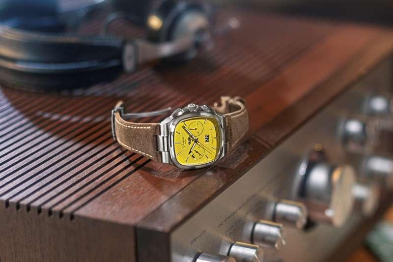 七零年代大日曆計時腕錶Seventies Chronograph Panorama Date在汲取 1970 年代風靡設計元素的同時還融合了現代摩登外觀和氣韻。