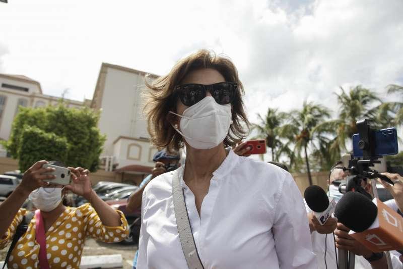 尼加拉瓜前總統女兒克莉絲提亞娜‧查莫洛是現任總統奧德嘉的強勁選舉對手(AP)