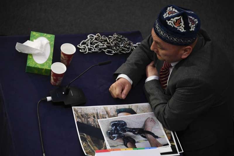 2021年6月4日,維吾爾獨立法庭在英國倫敦舉行聽證會(AP)