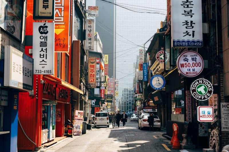 南韓街景(取自Pixabay)