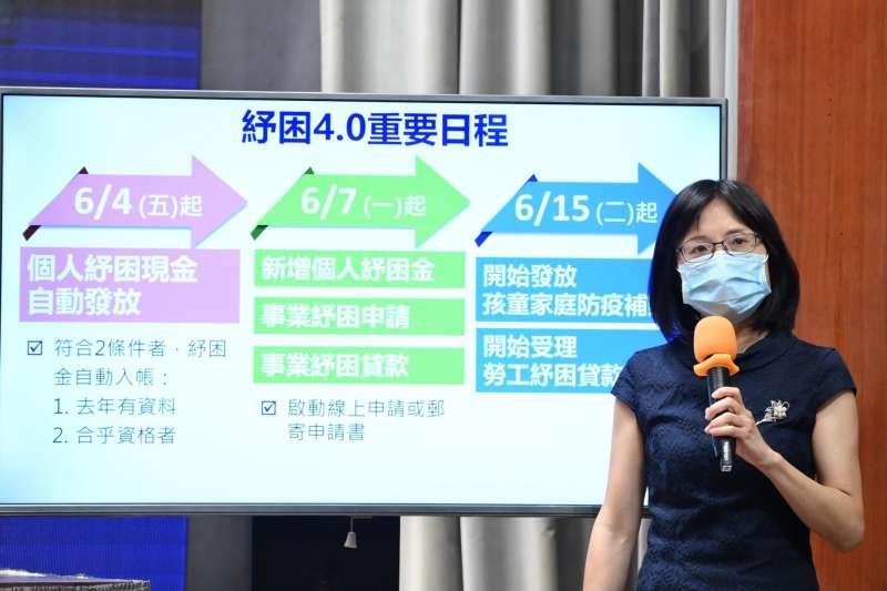 20210610-國發會經濟發展處長吳明蕙10日出席行政院會後記者會。(行政院提供)