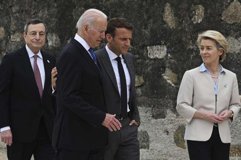 2021年6月,英國康瓦爾,七國集團(G7)領導人峰會(AP)