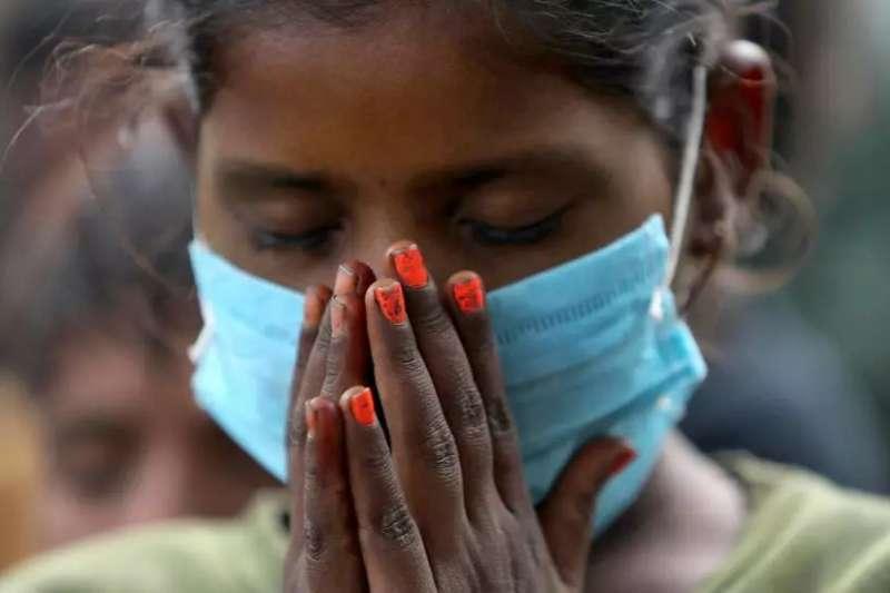 示意圖。新冠疫情讓印度數千名兒童淪為孤兒(美聯社)