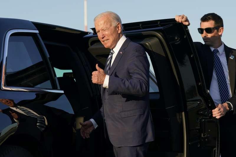 2021年6月,美國總統拜登訪問英國期間,搭乘座車「野獸」(The Beast)(AP)
