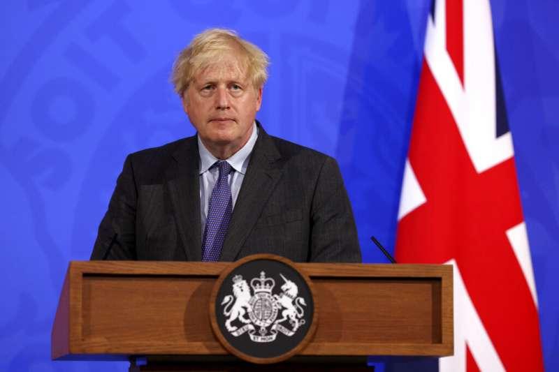 英國首相強森。(美聯社)