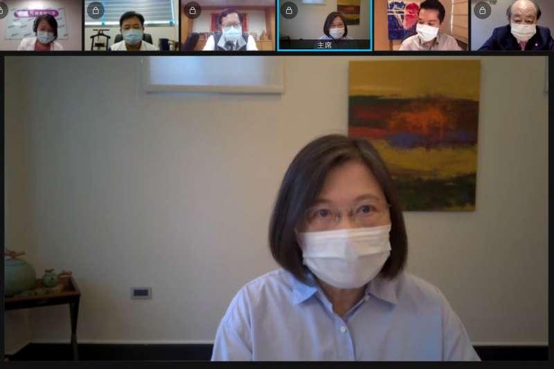 總統蔡英文21日接受年代專訪,談及疫苗採購問題。(資料照片,民進黨提供)
