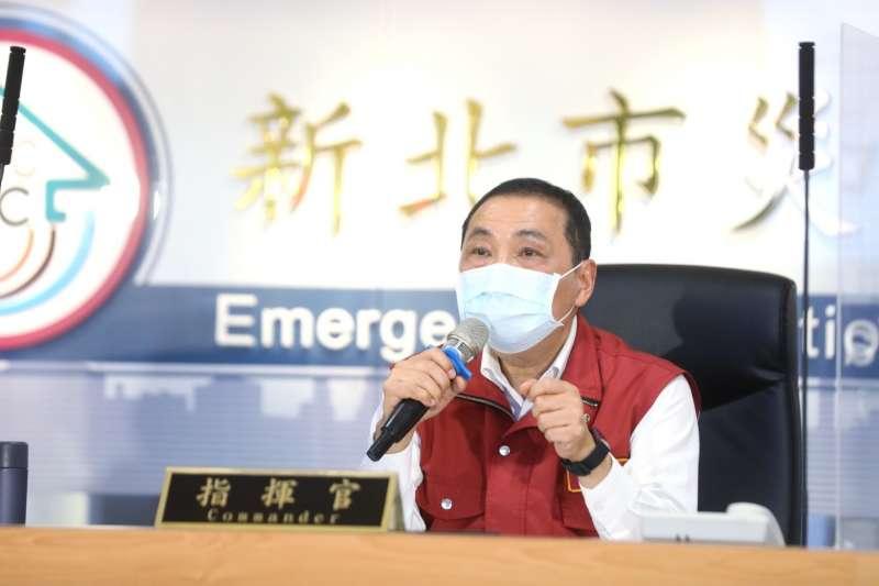 新北市長侯友宜16日主持防疫應變會議,提出抗疫最新戰略。(新北市府提供)