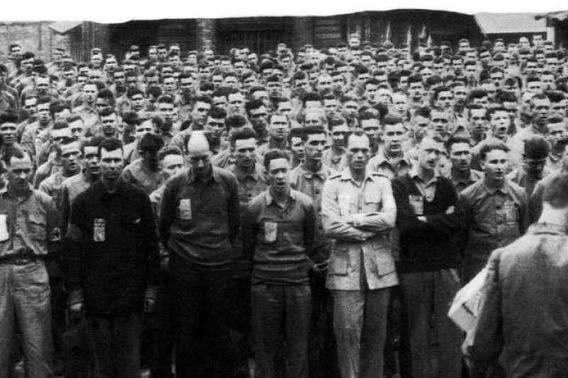 超過1100名盟軍士兵被關押在金卡西基戰俘營。(BBC中文網)