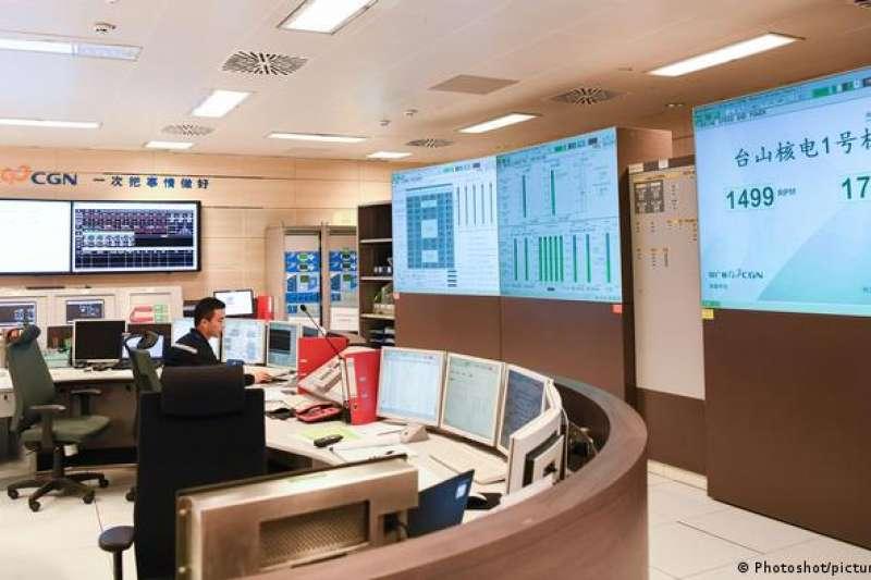 台山核電廠1號機組控制室。(2018年12月資料照)
