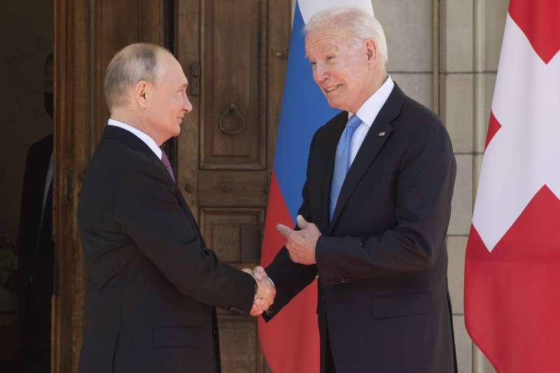 2021美俄峰會,美國總統拜登與俄羅斯總統6月16日在瑞士日內瓦會面(AP)