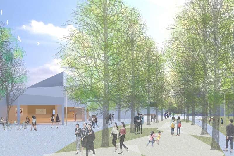 高雄文化新地標「內惟藝術中心」即將啟動,翻轉城市美術館的未來想像。(圖/透視效果圖由高美館提供)