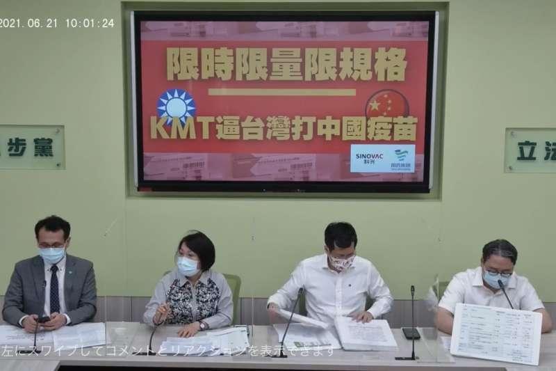 藍批「擋國際疫苗」 民進黨團反嗆:藍想逼台灣打中國疫苗-風傳媒