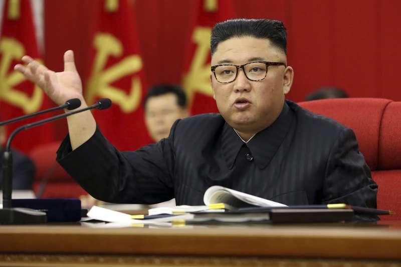 2021年6月,北韓領導人金正恩(AP)