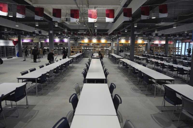 2021年東京奧運和帕運的奧運村與帕運村(Olympic and Paralympic Village),餐廳(AP)