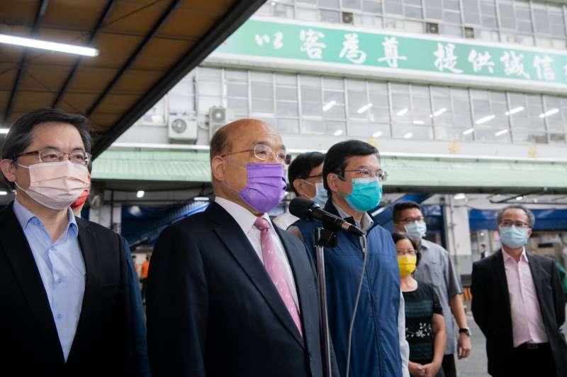 行政院長蘇貞昌強調,目前跨區傳播及北農群聚感染事件仍然存在,解封不該貪快導致功虧一簣。(資料照,行政院提供)
