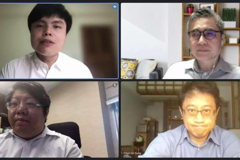 民間團體「經濟民主連合」與「台灣撐香港陣線」22日召開線上記者會,對我國駐外人員堅守國家主權立場表達支持。(經民連提供)