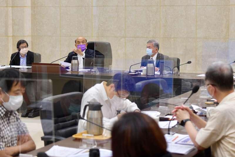 行政院22日召開擴大防疫會議,院長蘇貞昌出席。(行政院提供)