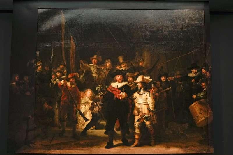 荷蘭17世紀繪畫大師林布蘭的曠世巨作《夜巡》(美聯社)