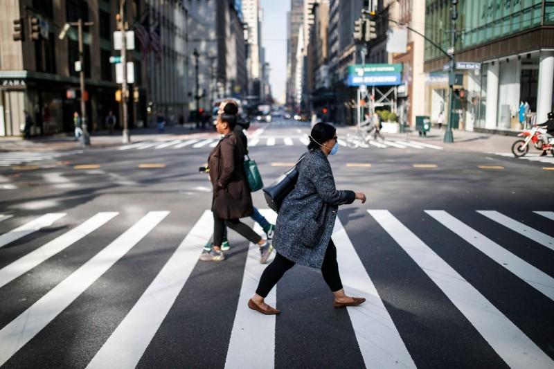 2020年3月,紐約市成為了美國新冠疫情的早期爆發地之一。(AP)