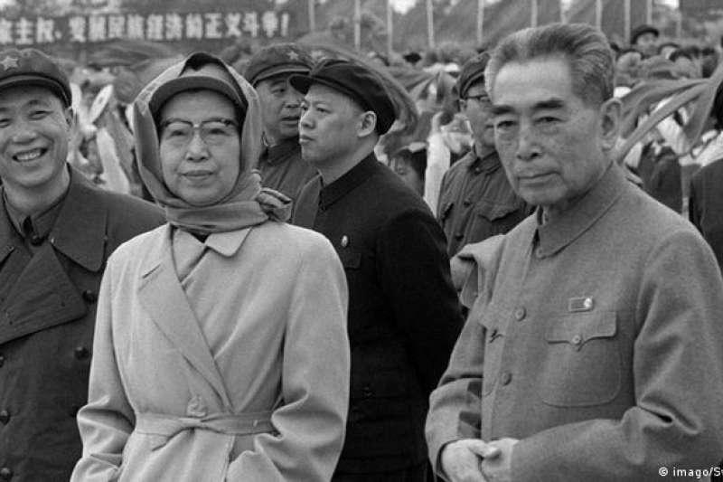 江青和周恩來總理(攝於1974年2月15日)