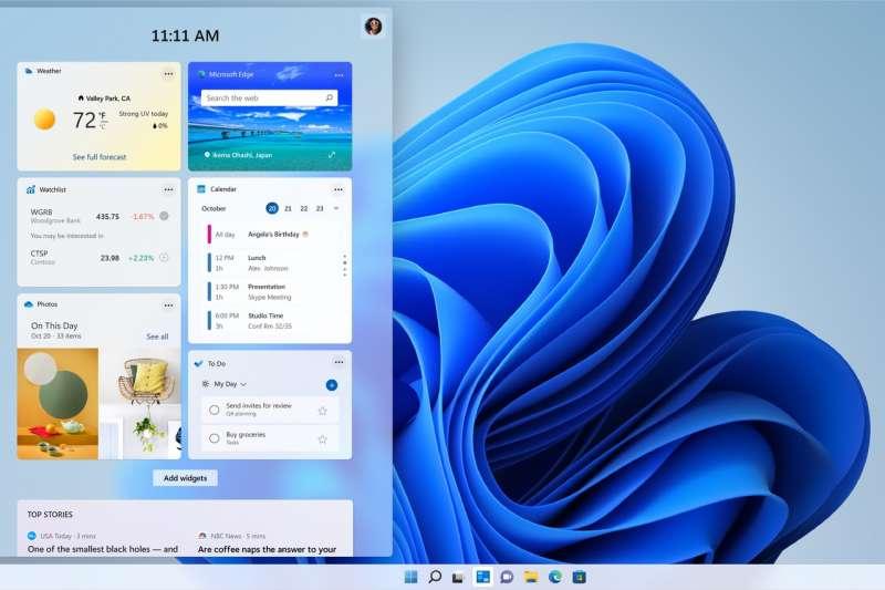 Windows 11的展示頁面。(微軟)