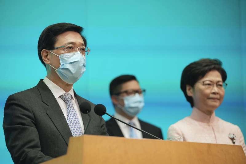 香港新任政務司長李家超(John Lee,左)(AP)