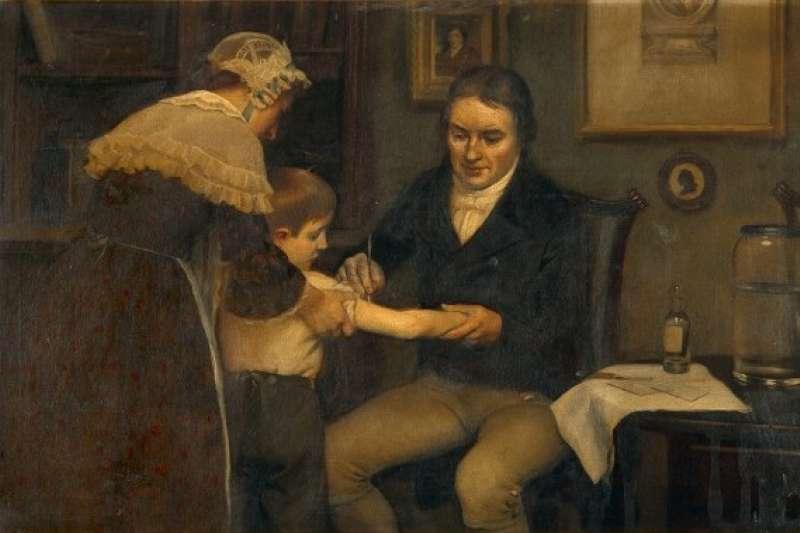 愛德華·詹納(Edward Jenner)從擠奶女工身上發現接種牛痘可戰勝天花病毒,發明了史上第一個疫苗,為現代醫學付出極大貢獻,也被後世尊稱為「疫苗之父」。(圖/取自Wikipedia)