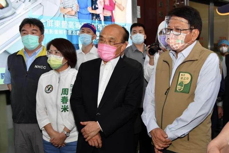 行政院長蘇貞昌呼籲,大家請再忍耐14天,很快換來正常生活。(行政院提供)
