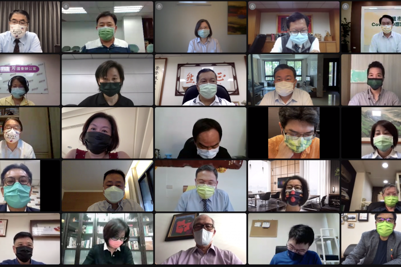 民進黨30日舉行視訊中執會,會中談及紓困議題。(民進黨提供)