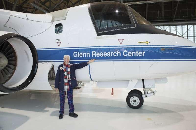 2019年,芬克造訪美國俄亥俄州的NASA格倫研究中心(美聯社)