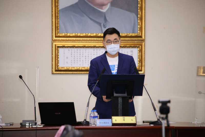 國民黨主席江啟臣表示,執政黨「疫苗分配大小眼,還拿疫苗施打率攻擊地方,民進黨夠了沒!」(資料照,國民黨提供)
