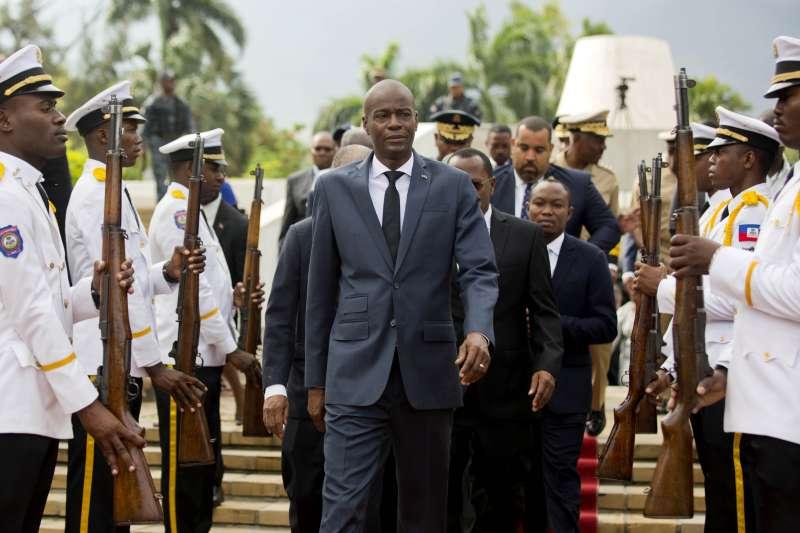 2021年7月7日,我國加勒比海友邦海地總統摩依士遭暗殺(AP)