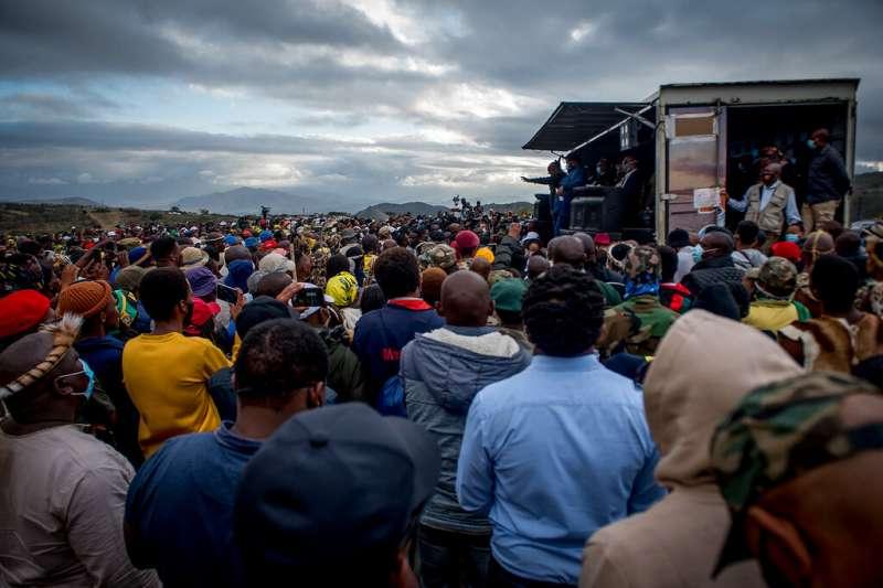 7月4日,南非前總統祖馬召開大型造勢集會,宣稱自己遭到政治與司法的迫害。(AP)