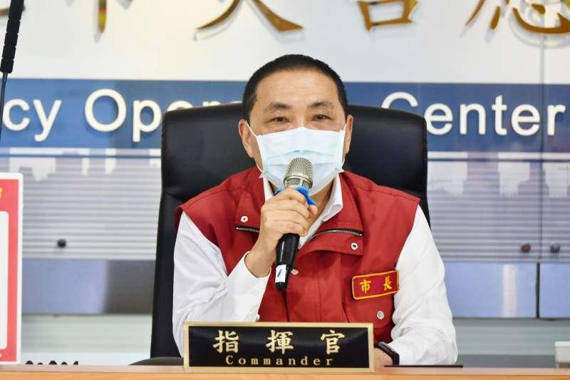 新北市長侯友宜今(14)日宣布新北疫情降溫。(圖 / 新北市府提供)