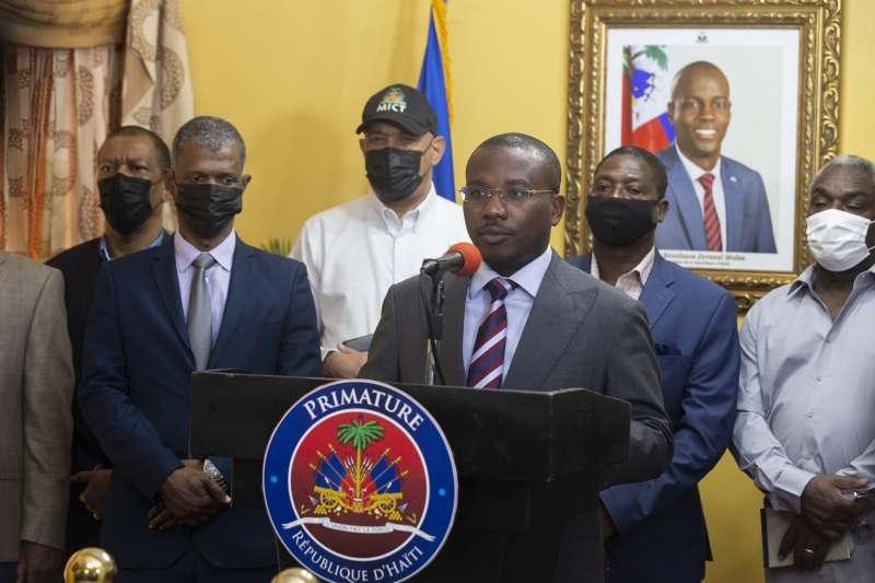 2021年7月8日,海地逮捕涉嫌暗殺總統的17名嫌犯,圖為海地臨時總理約瑟夫(AP)