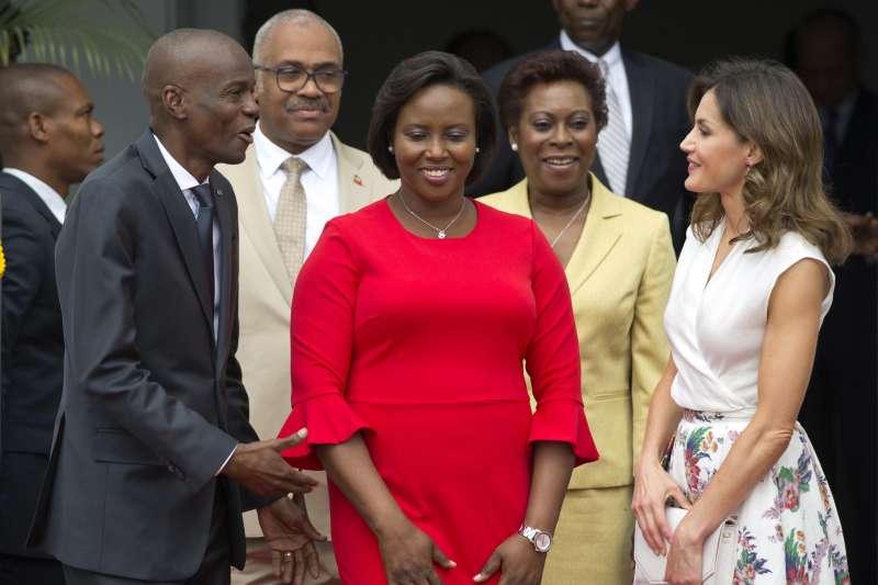 海地總統摩依士、第一夫人瑪婷。(AP)