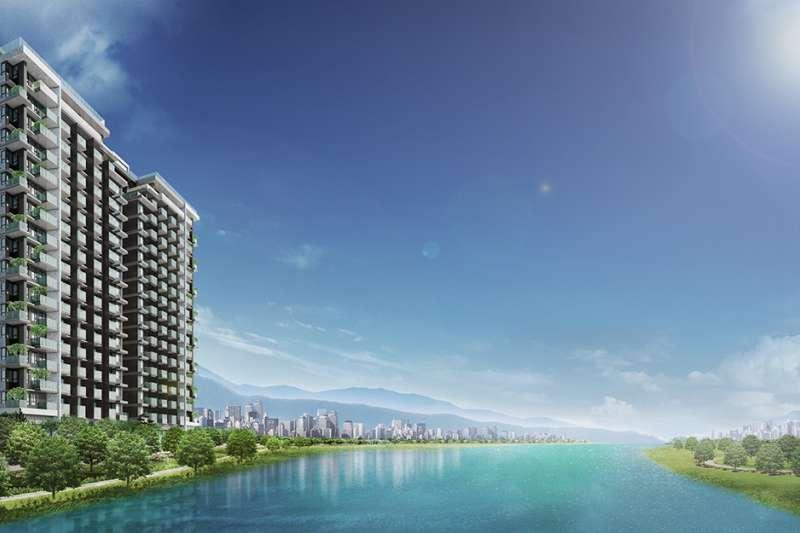 新北市中和區的「灣岸 Villa」是全球首座fitwel國際健康建築準三星社區,以24節氣概念為核心,結合建築規劃。(圖/業者提供)