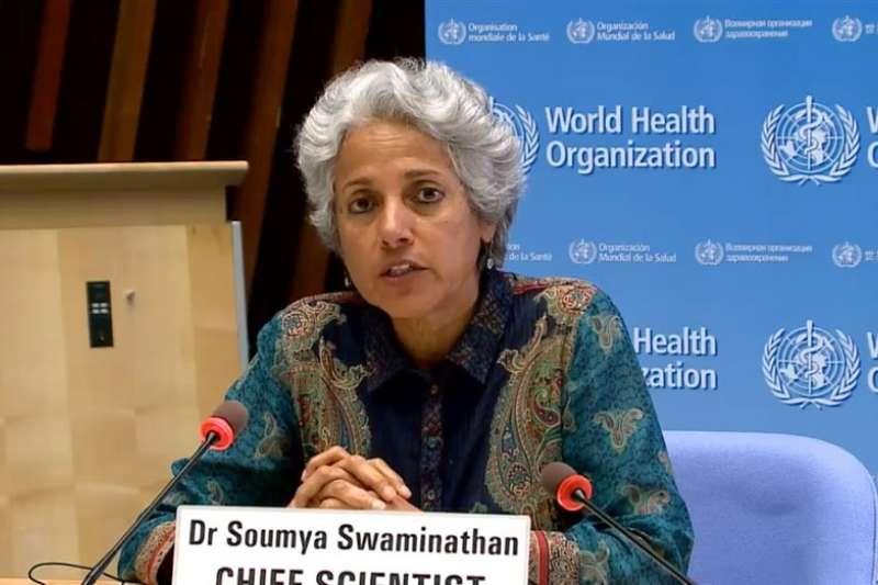 WHO首席科學家斯瓦米納坦昨(12)日建議,不要將不同廠牌的COVID-19疫苗混合施打。(圖/取自WHO臉書)