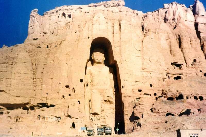 擁有兩千年歷史的阿富汗巴米揚大佛。(美聯社)