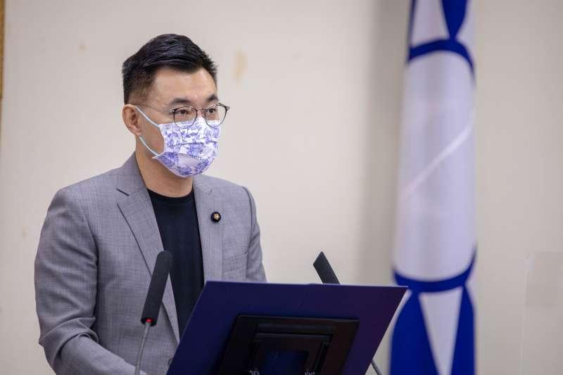 據未來事件交易所29日數據顯示,國民黨主席江啟臣「行情」暫居第2。(資料照,國民黨提供)