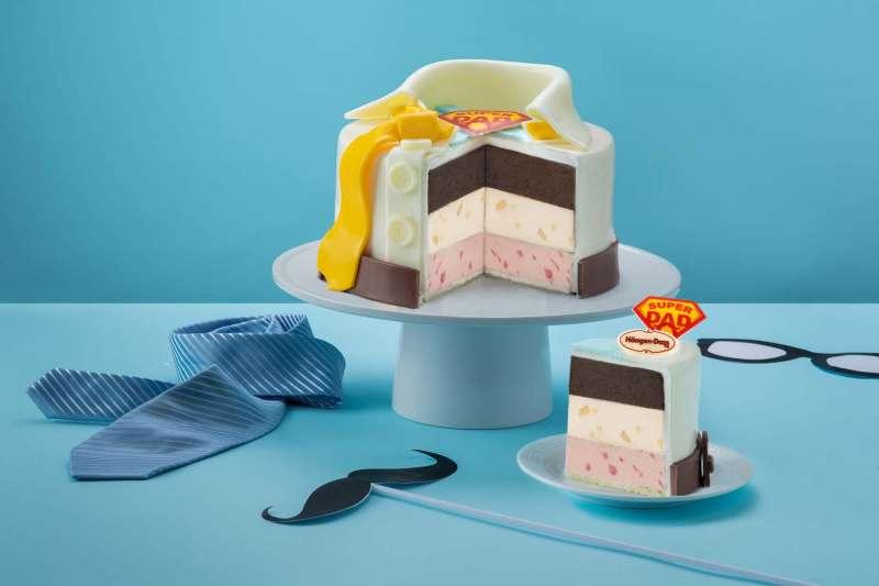 Häagen-Dazs在今年的父親節主打全新五吋三層冰淇淋蛋糕(圖 / Häagen-Dazs提供)
