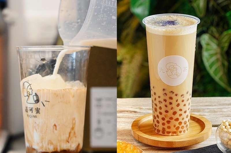 炎炎夏日幾乎人手一杯手搖飲,Social Lab社群實驗室特別整理了時下最熱門的8大明星飲料店。(合成圖/取自PiQiMi 必可蜜、Nine_tea 九茶官方臉書)