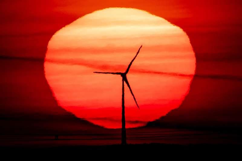歐洲積極削減溫室氣體二氧化碳排放量,大力推廣風力發電等可再生能源(AP)