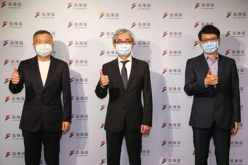 20210716-風傳媒董事長張果軍(中)、MIH聯盟執行長鄭顯聰(左)、台達電電動車事業群總經理唐修平(右)16日出席風傳媒舉辦「電動車2025」線上論壇。(顏麟宇攝)