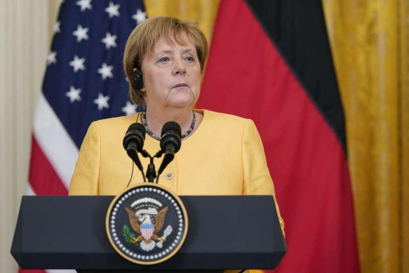 2021年7月15日,德國總理梅克爾作客白宮(AP)