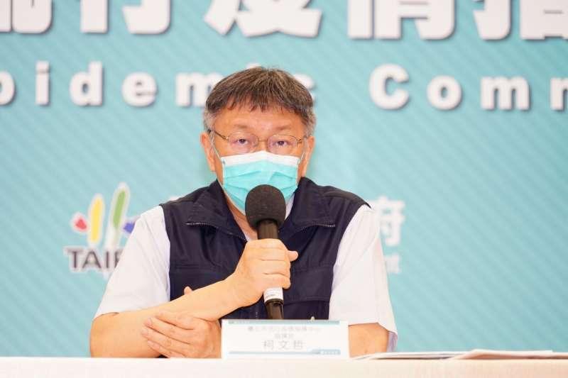 台北市長柯文哲接受電視台訪問時,談到考慮9月北市中小學開學後,將採用「線上與到校混合班」方式開課。(資料照,北市府提供)