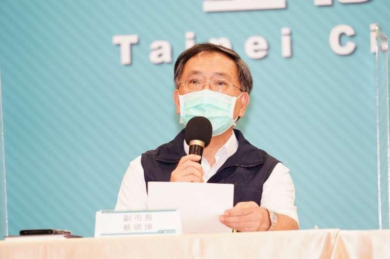 台北市副市長蔡炳坤表示,中央專案確實接種疫苗速度較慢。(資料照,北市府提供)