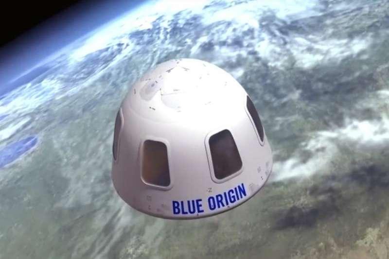 「藍源」(Blue Origin)首次太空載人飛行預計於7月20日舉行。(AP)