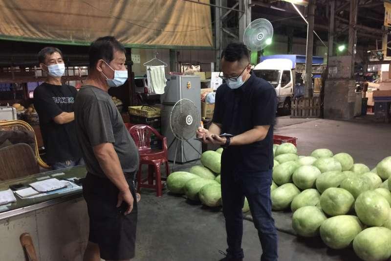 雖然初步微解封,中市府農業局對於七大批發市場還是維持加強防疫措施。(圖/台中市政府提供)